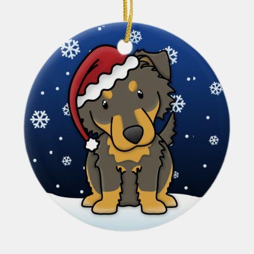 Kawaii Cartoon English Shepherd Christmas Ornament
