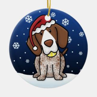 Kawaii Cartoon German Shorthair Pointer Christmas Christmas Ornaments