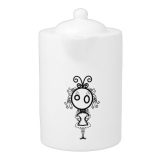 Kawaii Cartoon Girl Teapot