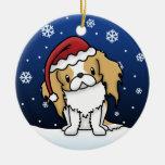 Kawaii Cartoon Japanese Chin Christmas Ornament