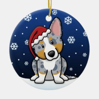Kawaii Cartoon Merle Cardigan Welsh Corgi Ceramic Ornament