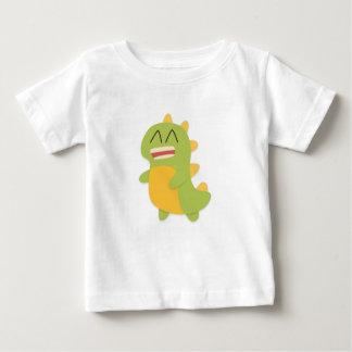 Kawaii cartoon of green and yellow Dino Tee Shirts