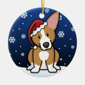 Kawaii Cartoon Pembroke Welsh Corgi Ceramic Ornament