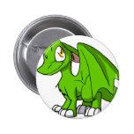 Kawaii Cartoon Recolourable SD Furry Dragon Button