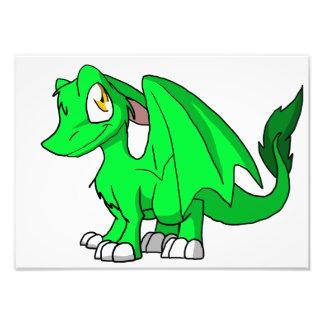 Kawaii Cartoon Recolourable SD Furry Dragon Photo Print