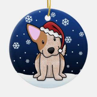 Kawaii Cartoon Red Heeler Christmas Ornament