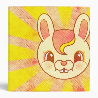 Kawaii Cartoon Retro Bunny Rabbit grunge Binder