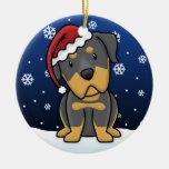 Kawaii Cartoon Rottweiler Christmas Ornament