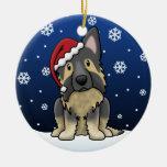 Kawaii Cartoon Shiloh Shepherd Christmas Ornament