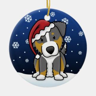 Kawaii Cartoon Tri Australian Shepherd Christmas Christmas Tree Ornaments