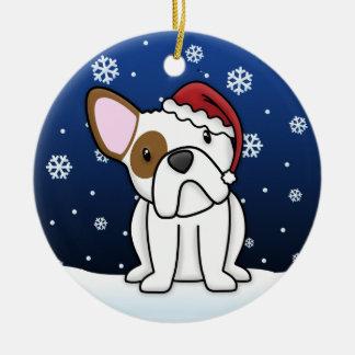Kawaii Cartoon WB Bulldog Christmas Ornament