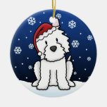 Kawaii Cartoon Westie Christmas Ornament