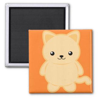 Kawaii Cat 2 Inch Square Magnet