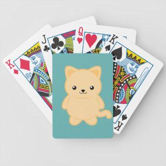 Kawaii Cat Bicycle Playing Cards