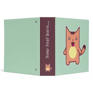Kawaii cat binder