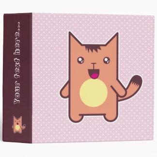 Kawaii cat vinyl binders