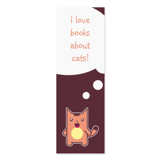 Kawaii cat bookmark Double-Sided mini business cards (Pack of 20)