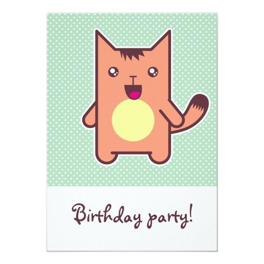 Kawaii cat card
