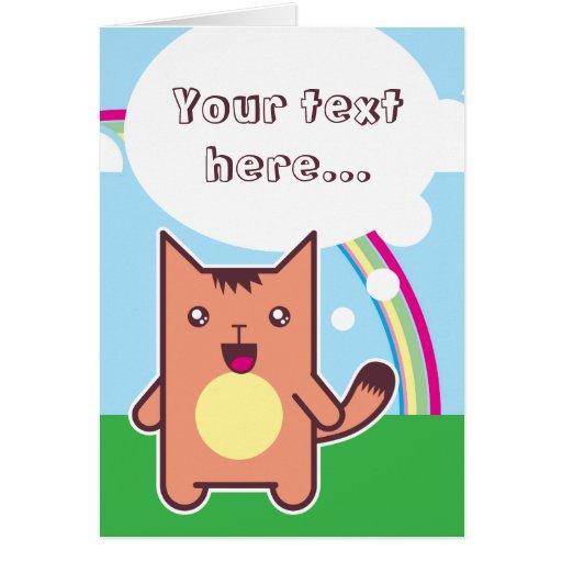 Kawaii cat cards