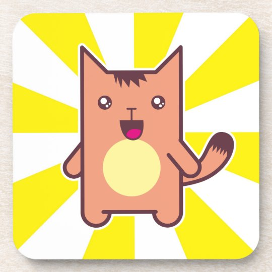 Kawaii cat coaster