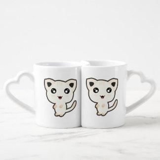 Kawaii Cat Coffee Mug Set