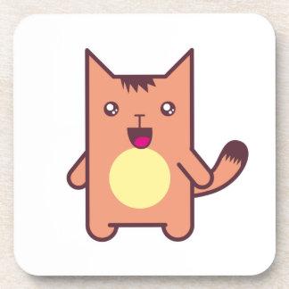 Kawaii cat beverage coasters
