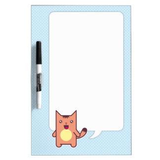 Kawaii cat Dry-Erase whiteboards