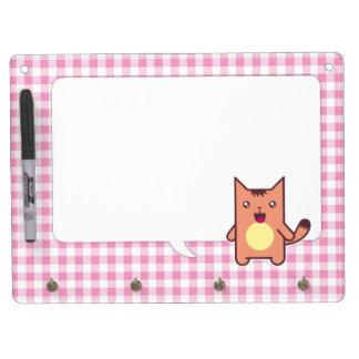 Kawaii cat dry erase whiteboards