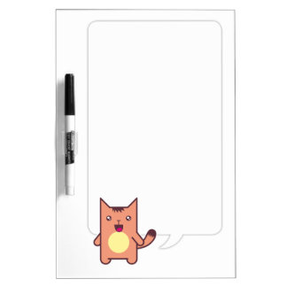 Kawaii cat dry erase board