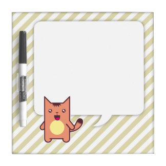 Kawaii cat dry erase whiteboard