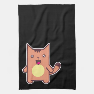 Kawaii cat hand towel