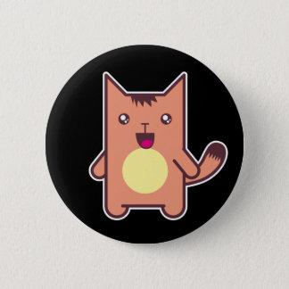 Kawaii cat pinback button