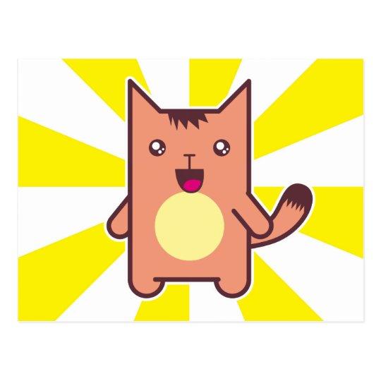 Kawaii cat postcard