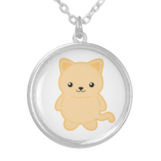 Kawaii Cat Silver Plated Necklace