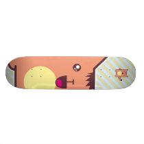Kawaii cat skateboard deck