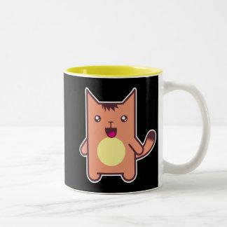 Kawaii cat Two-Tone coffee mug