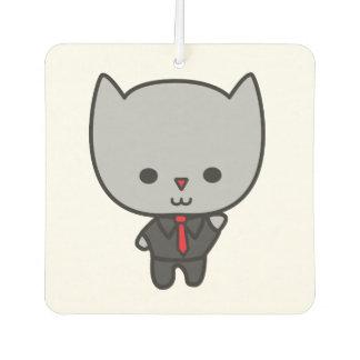 Kawaii Cat with Tie Car Air Freshener