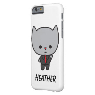 Kawaii Cat with Tie Customizable Barely There iPhone 6 Case
