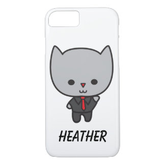 Kawaii Cat with Tie Customizable iPhone 7 Case