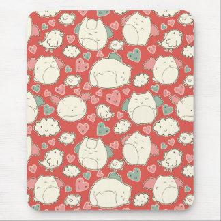 Kawaii cats mouse pad