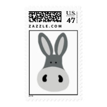Kawaii Charlie the Donkey Postage Stamp