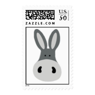 Kawaii Charlie the Donkey Postage Stamp