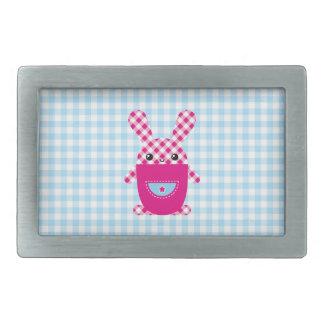Kawaii checkered rabbit belt buckle
