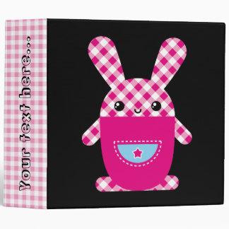 "Kawaii checkered rabbit carpeta 2"""