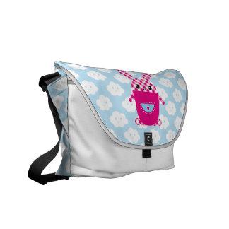 Kawaii checkered rabbit commuter bags