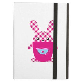 Kawaii checkered rabbit cover for iPad air