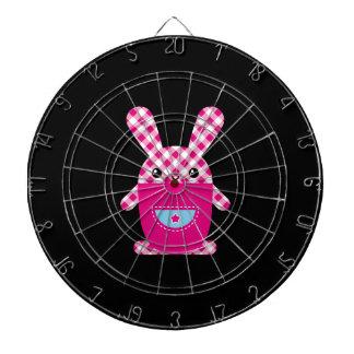 Kawaii checkered rabbit dartboard