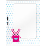Kawaii checkered rabbit Dry-Erase whiteboard