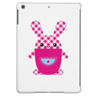 Kawaii checkered rabbit iPad air case