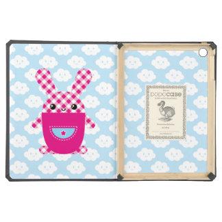 Kawaii checkered rabbit iPad air cases
